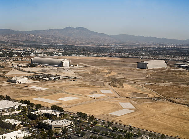 Industrial area of El Toro with mountains in background El Toro Marine Corp Station located in Irvine California. military base stock pictures, royalty-free photos & images
