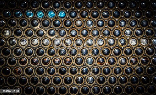 istock Industrial background glass balls and metal 498672513