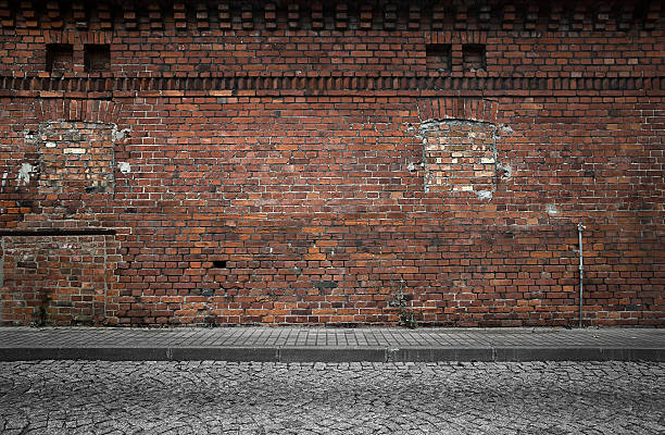 Industrial background Empty grunge urban background side view stock pictures, royalty-free photos & images