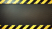 Industrial Backplate With Hexagonal Grid