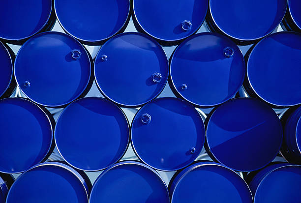 Industrial Barrels stock photo