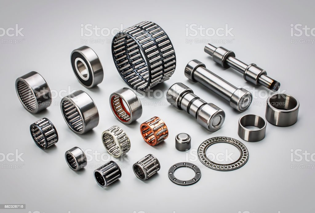 industrial bearings stock photo
