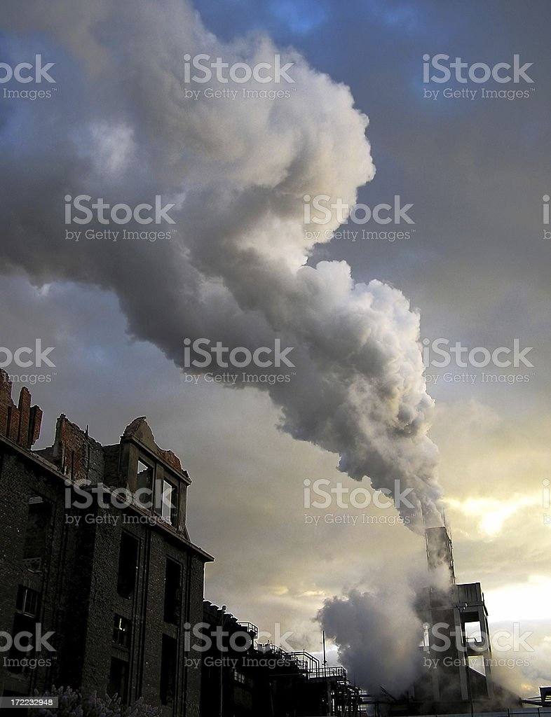 Industrial beauty stock photo