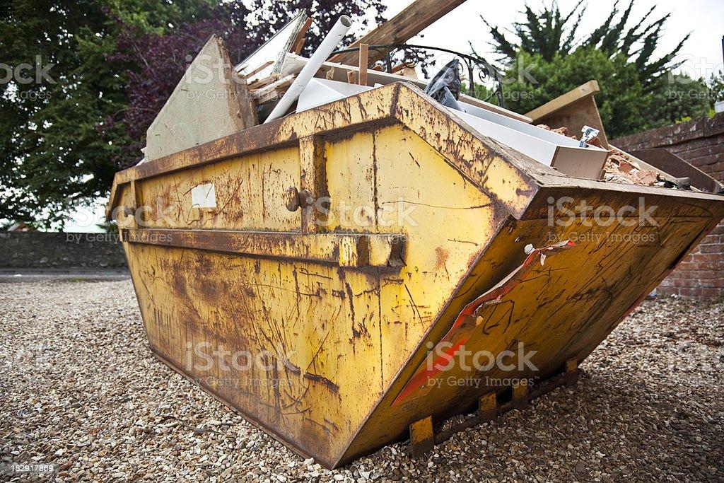 Industrial bin, overflowing royalty-free stock photo