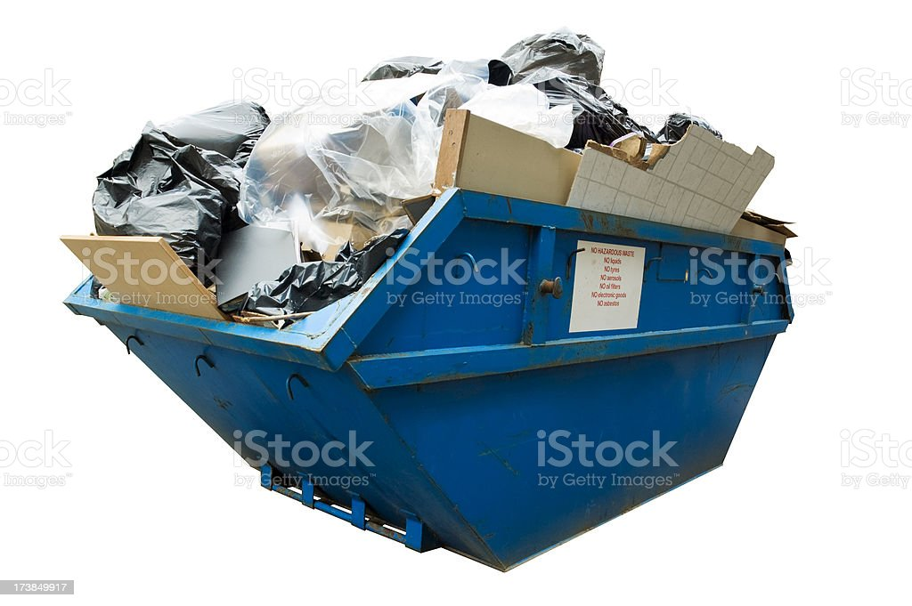 Industrial Bin w/ Clipping Path royalty-free stock photo