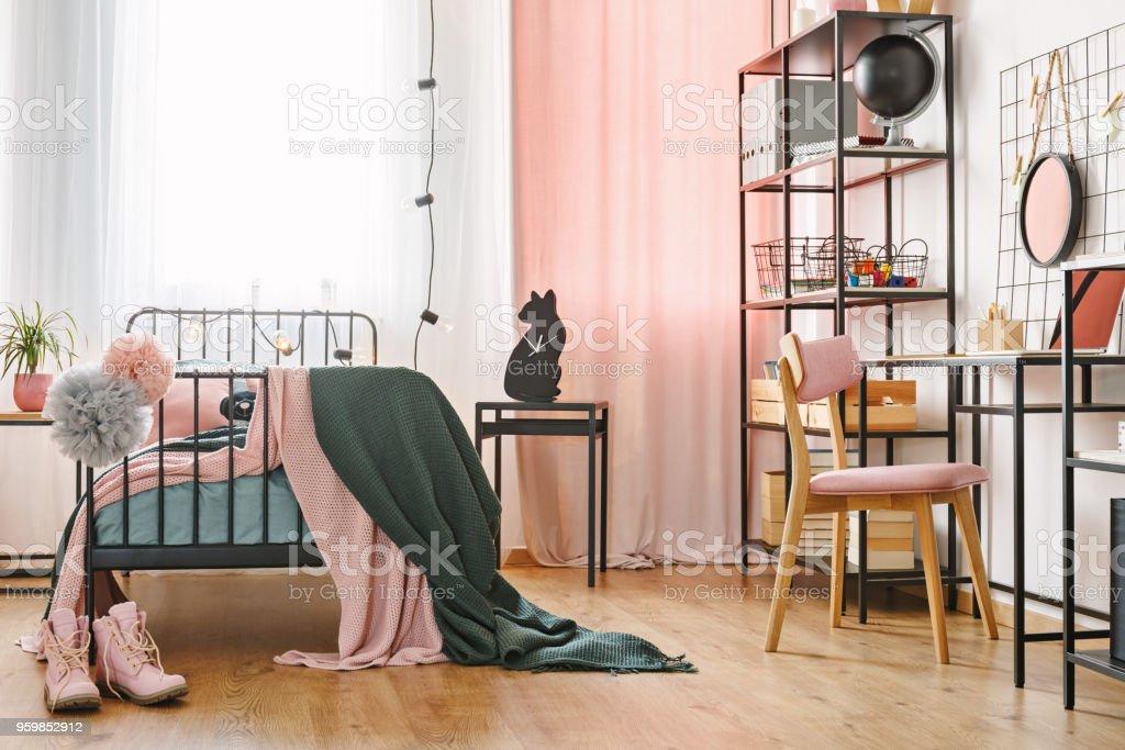 Industrial Black Furniture In Bedroom Stock Photo Download Image Now Istock