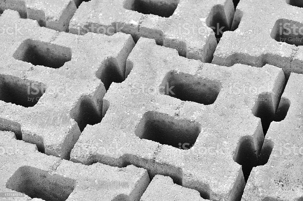 Industrial Blocks Close royalty-free stock photo