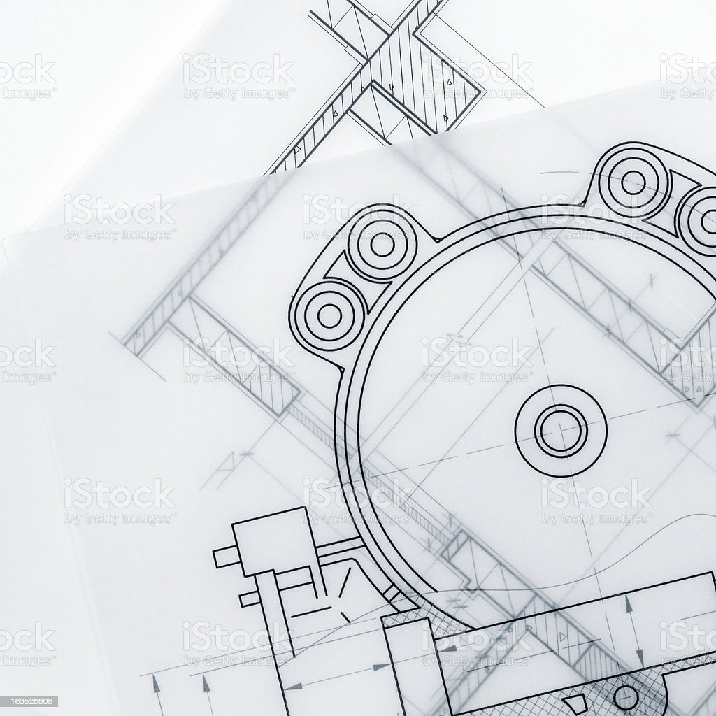 Industrial Blueprint Marco royalty-free stock photo