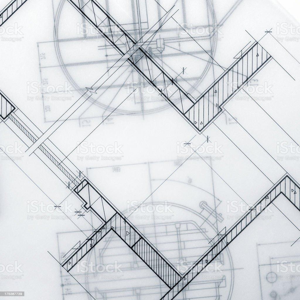 Industrial Blueprint Marco - Lizenzfrei Abstrakt Stock-Foto