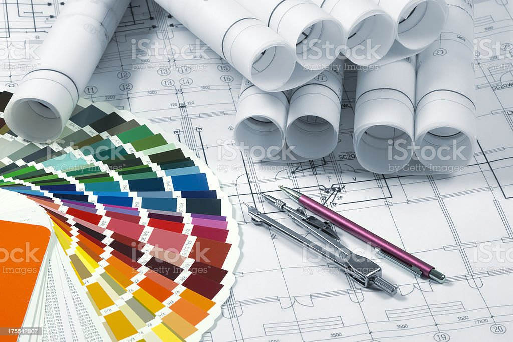 Industrial Blueprint royalty-free stock photo