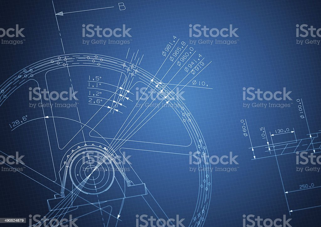 industrial blueprint stock photo