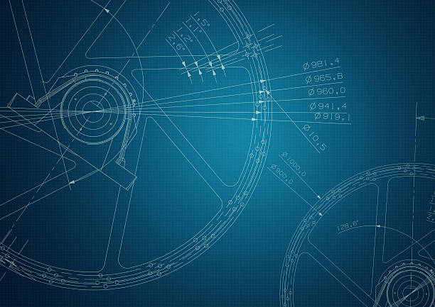industrial Technische Zeichnung – Foto