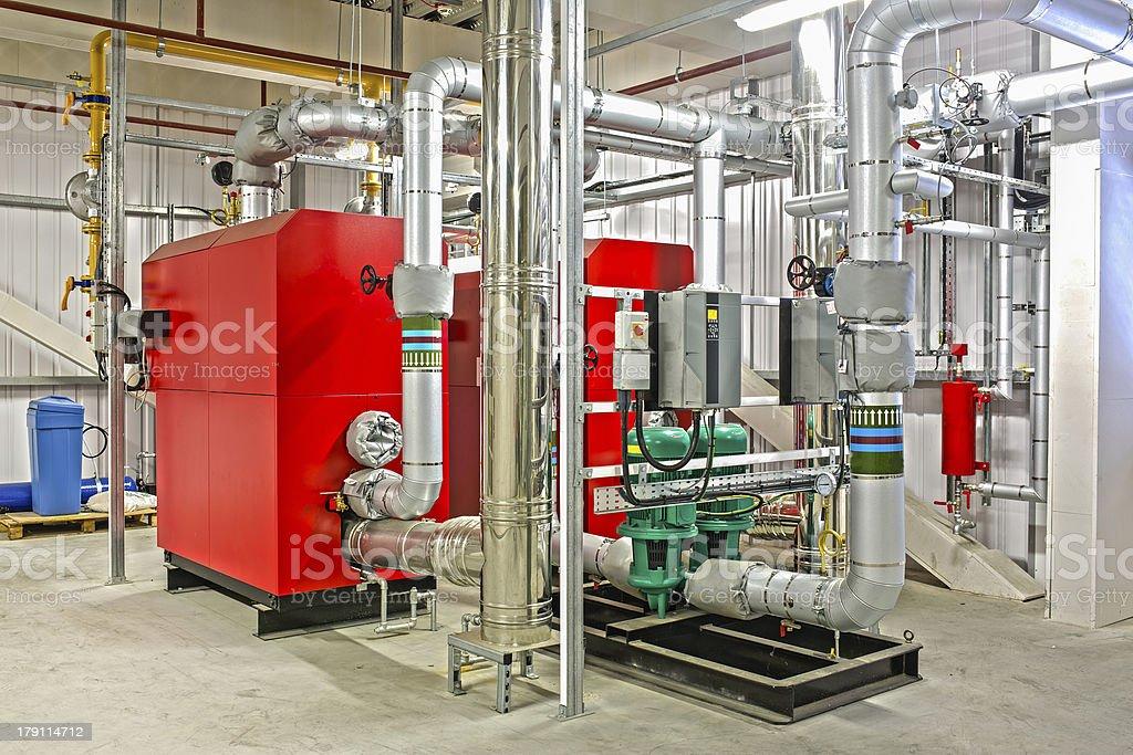 Industrial Boiler stock photo