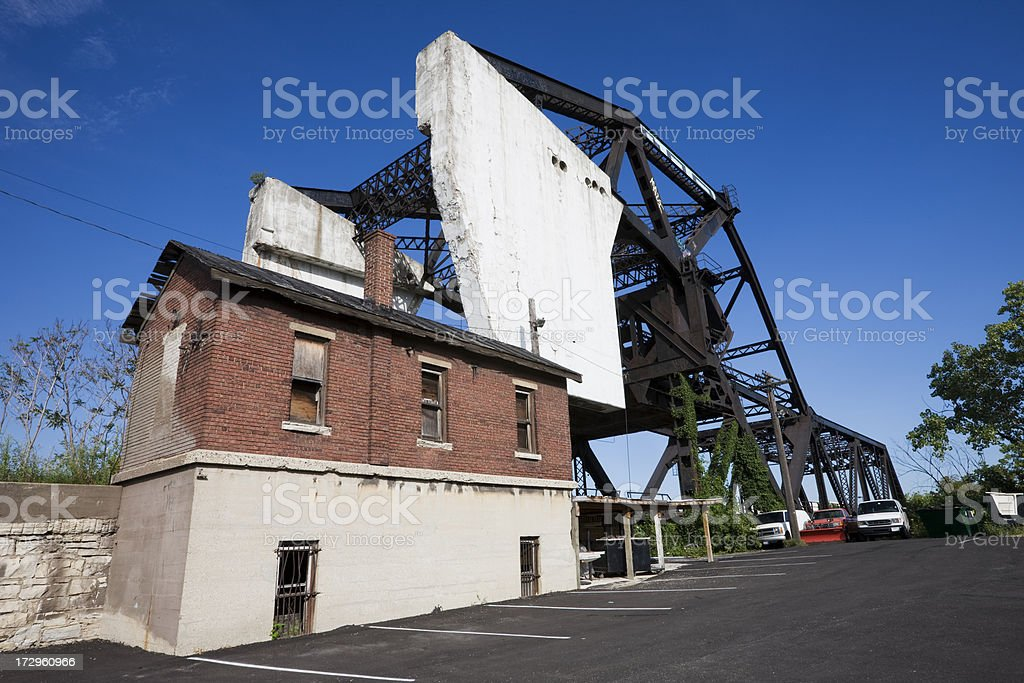 Industrial Bridge in Chicago royalty-free stock photo