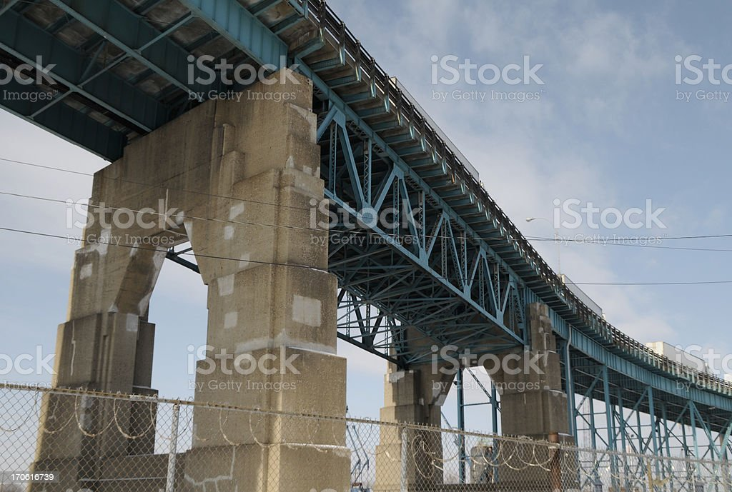 Industrial Bridge royalty-free stock photo