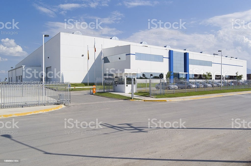 Industrial Building Facade stock photo
