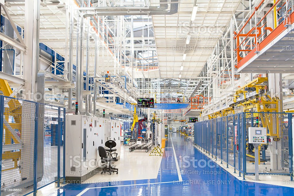 Industrial building interior stock photo