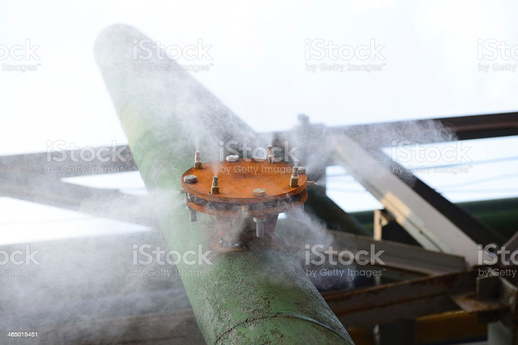 Industrial building, Steel pipelines royalty-free stock photo