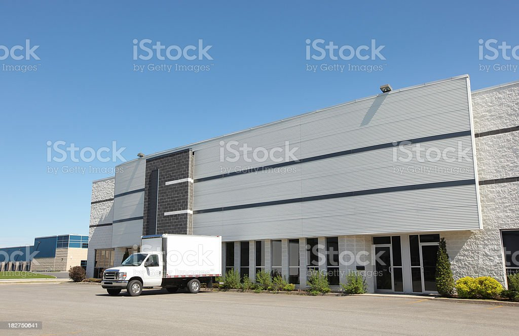 Industrial Building with service truck royalty-free stock photo