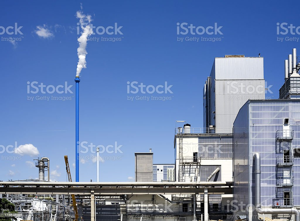Industrial buildings - copy space royalty-free stock photo
