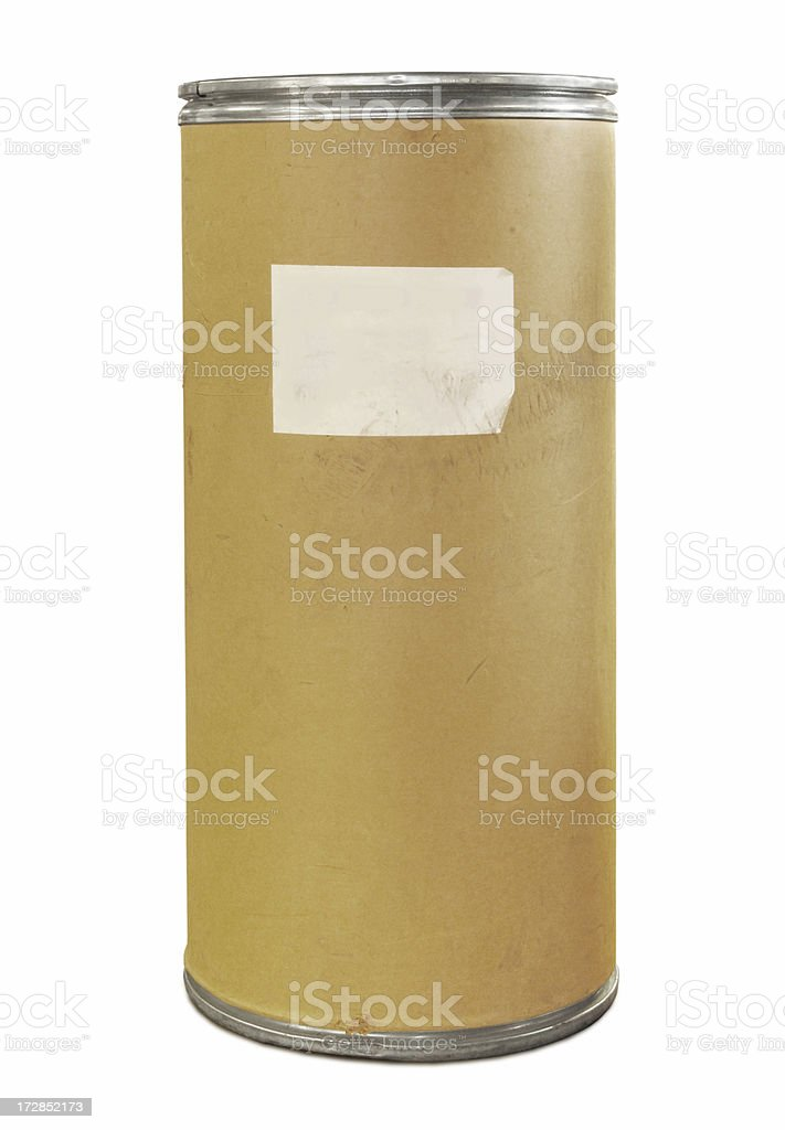 Industrial cardboard container royalty-free stock photo