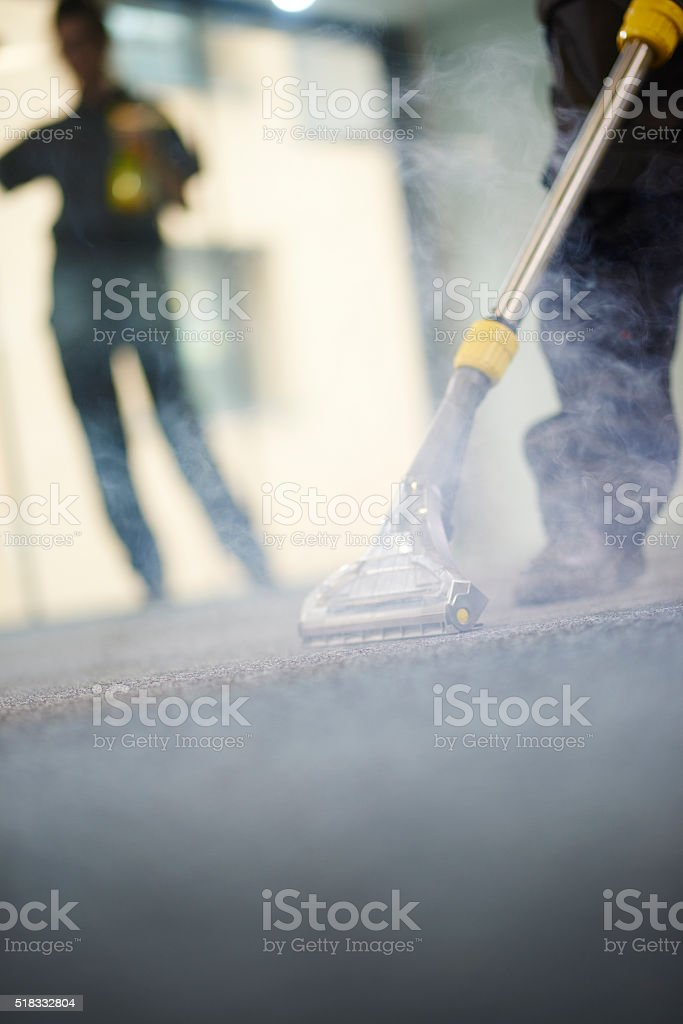 industrial carpet steam cleam stock photo