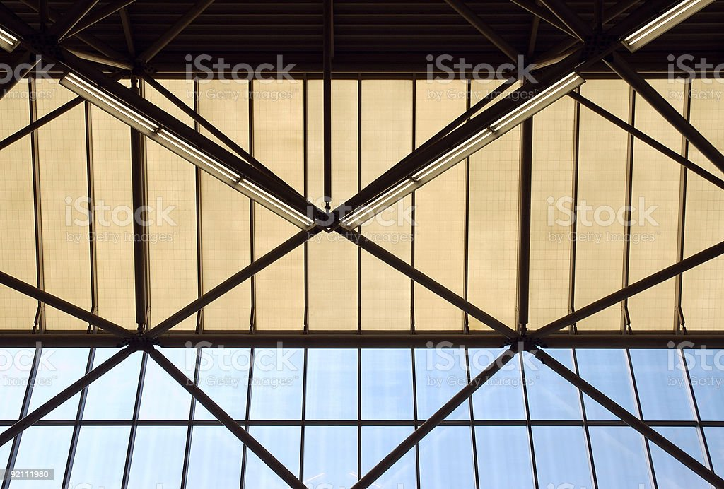 Industrial Ceiling royalty-free stock photo