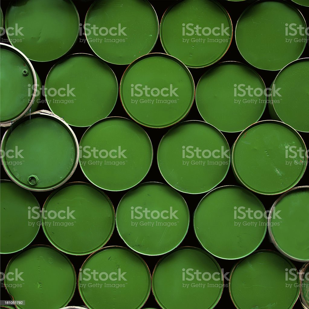 Industrial - Chemical Drums royalty-free stock photo