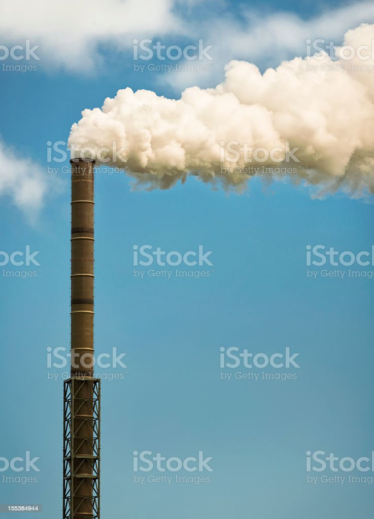 Industrial Chimney Effluent royalty-free stock photo
