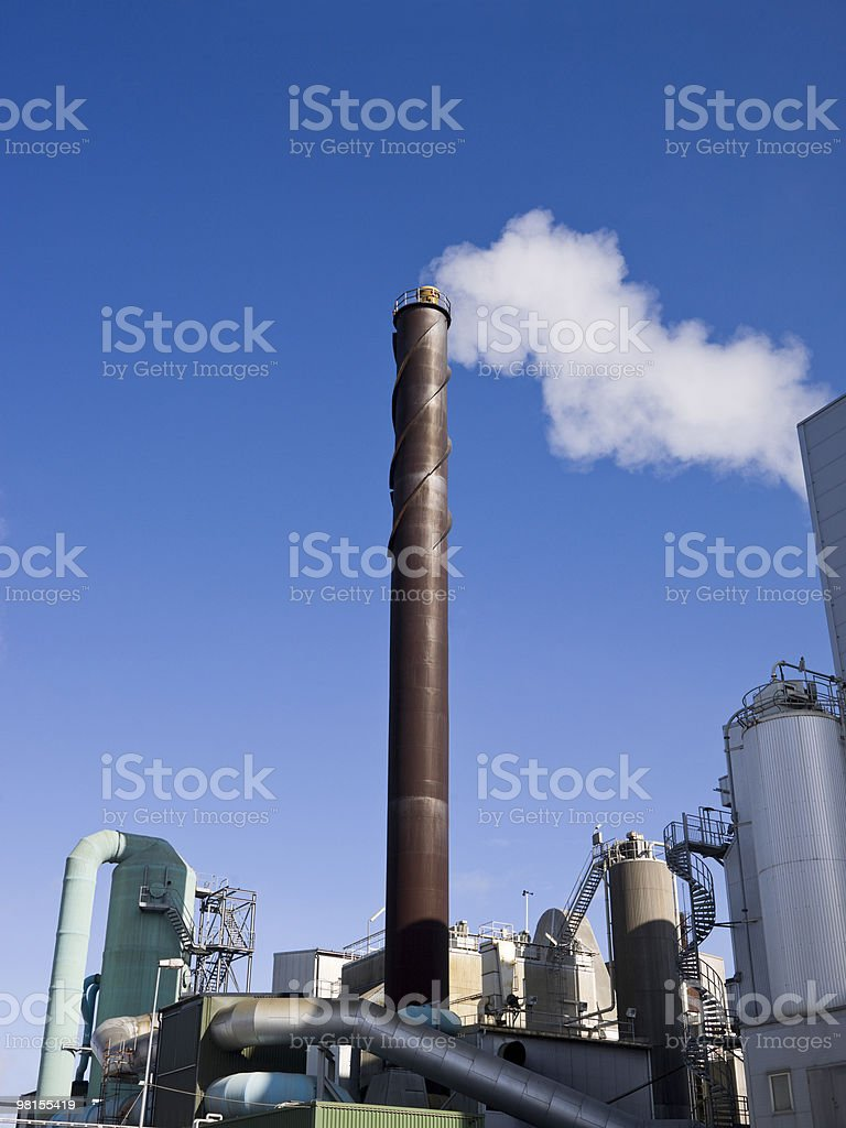 Industrial Chimney royalty-free stock photo