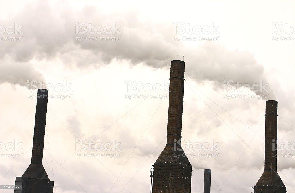 Industrial Chimneys royalty-free stock photo