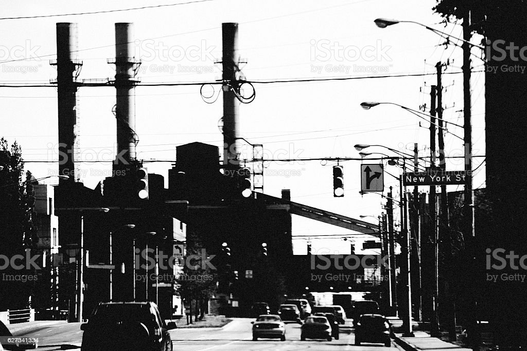 Industrial city - Indianapolis. stock photo