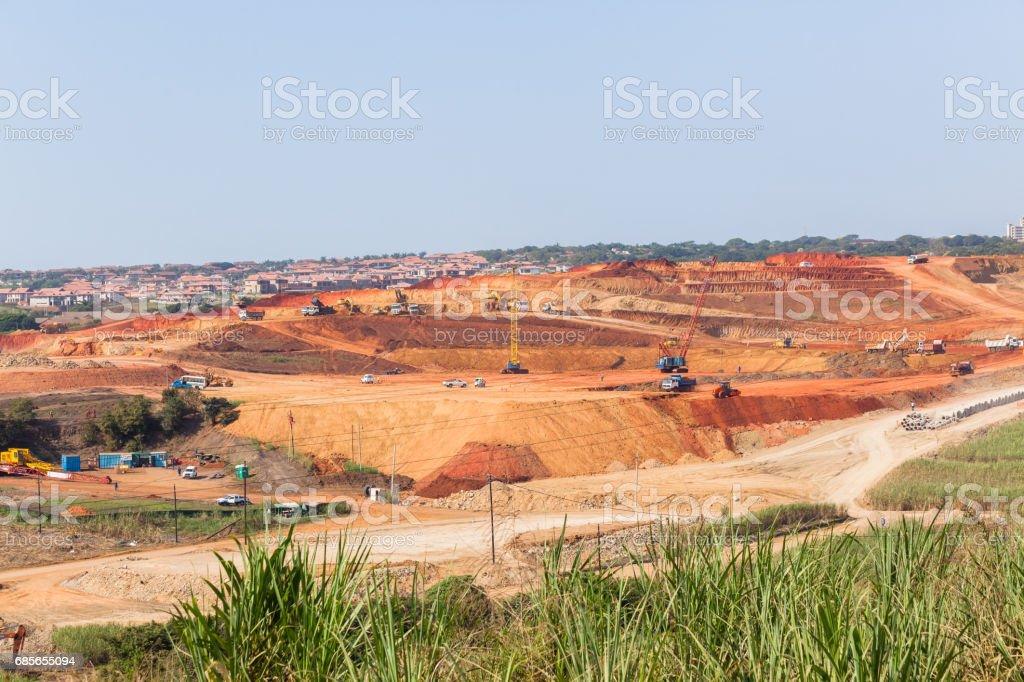 Industrial Construction Landscape 免版稅 stock photo