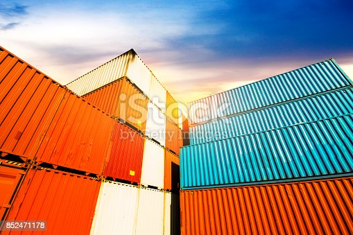 istock Industrial Container yard for Logistic Import Export business 852471178