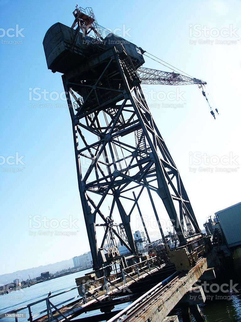 Industrial Crane royalty-free stock photo
