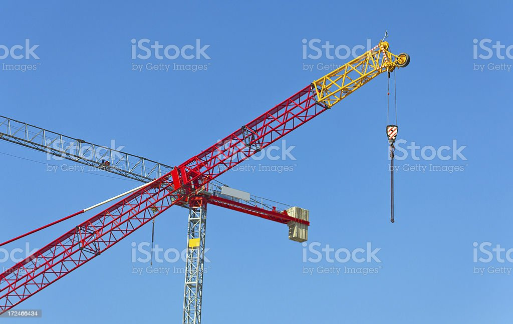 Industrial Cranes royalty-free stock photo