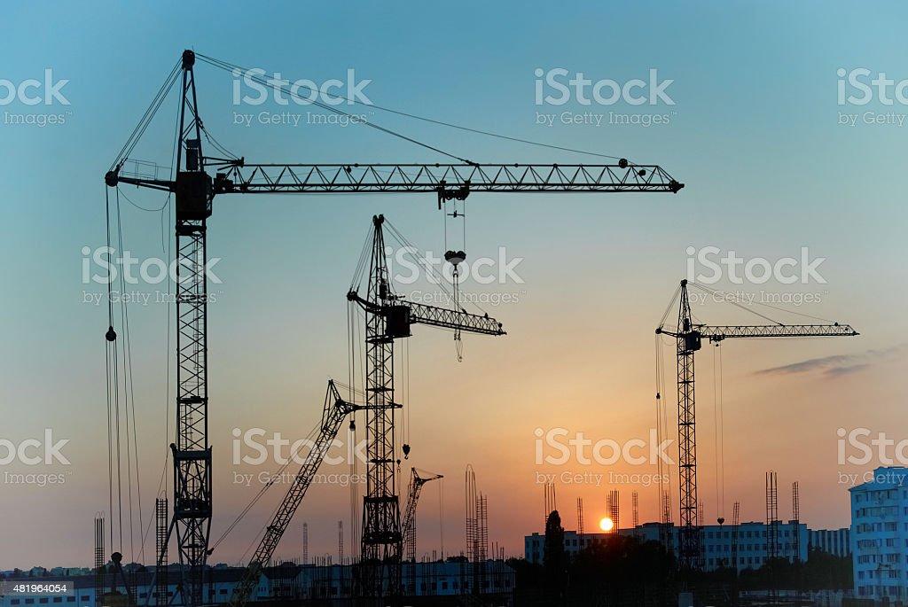 Industrial cranes – Foto
