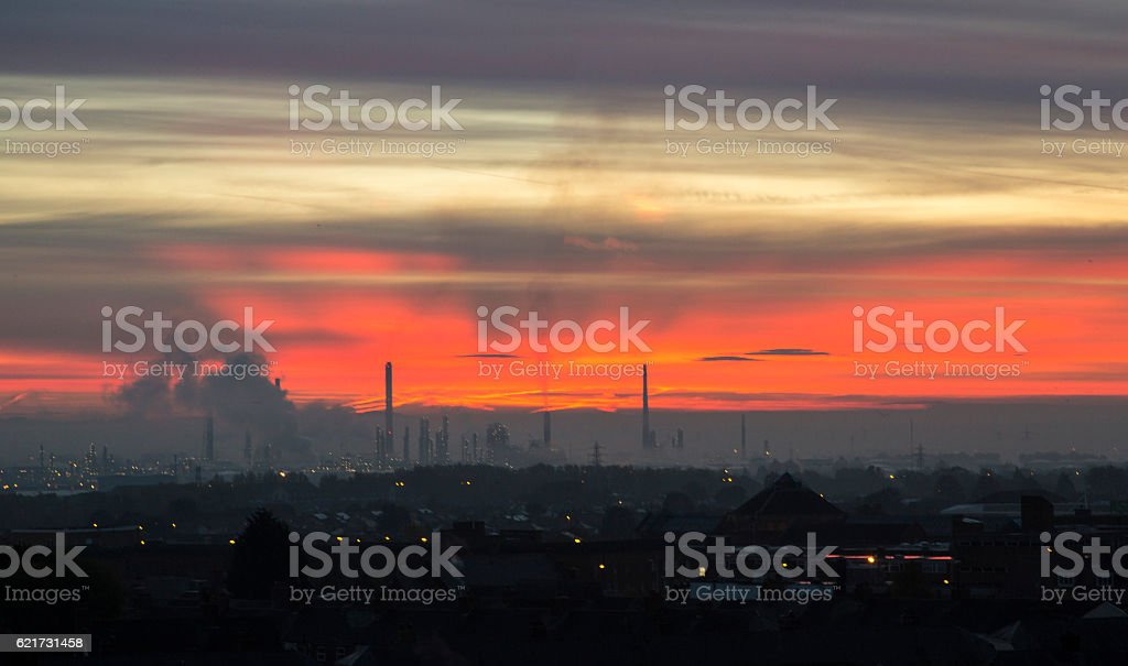 Industrial Dawn stock photo