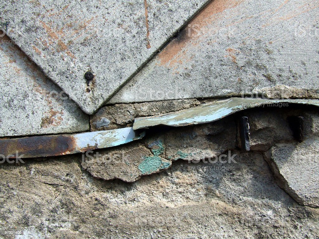 Industrial decay - old wall royalty-free stock photo