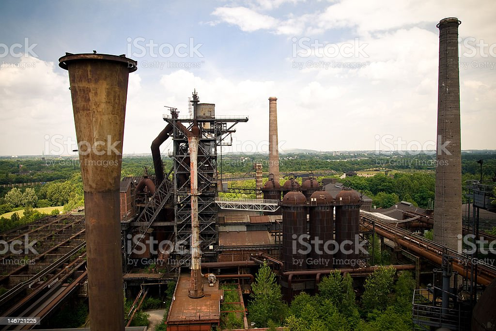 Industrial Decay stock photo