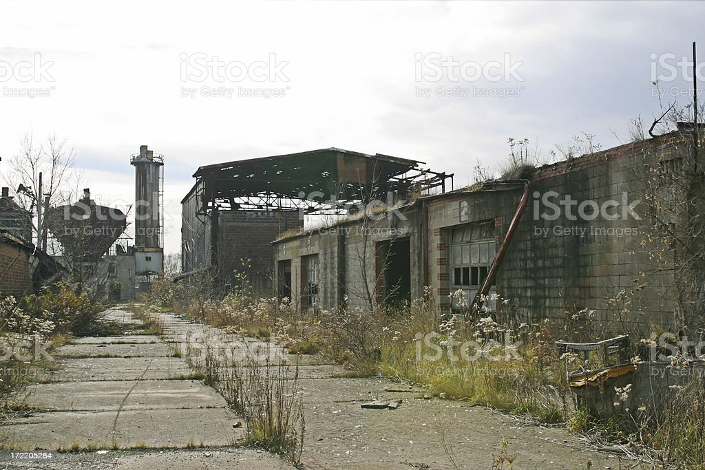 Industrial Decay royalty-free stock photo