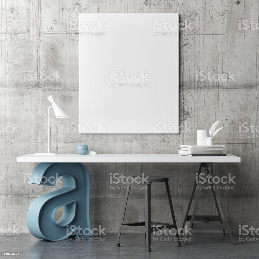Industrial Design Working Space Mock Up Poster Stock Photo Download Image Now Istock