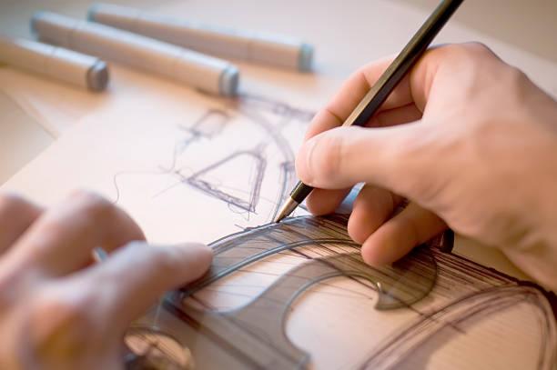 industriedesigner scribbling - produktdesigner stock-fotos und bilder