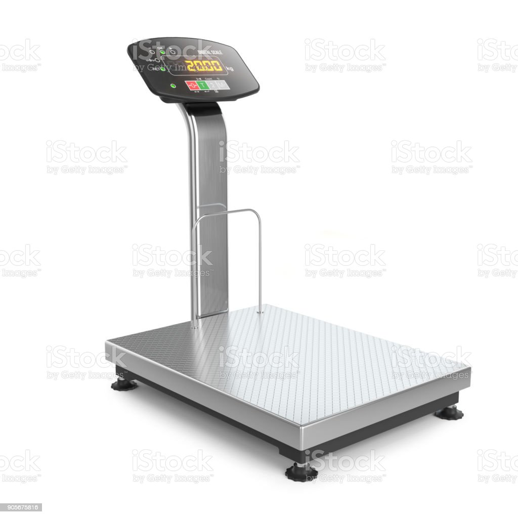 Industrial digital scale. stock photo