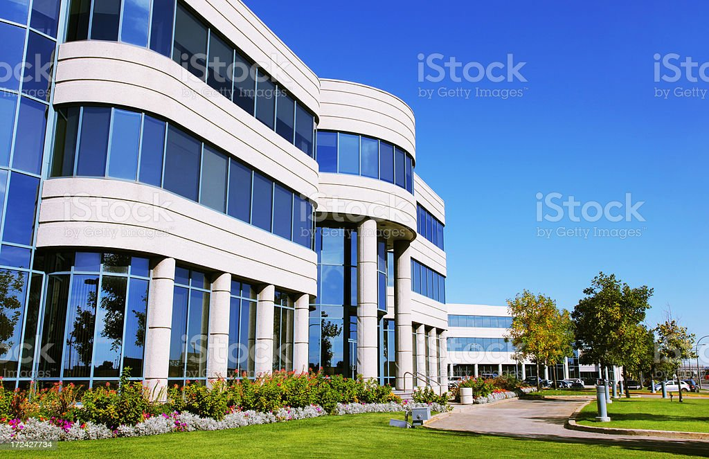 Industrial District in a Beautiful Summer Day stock photo