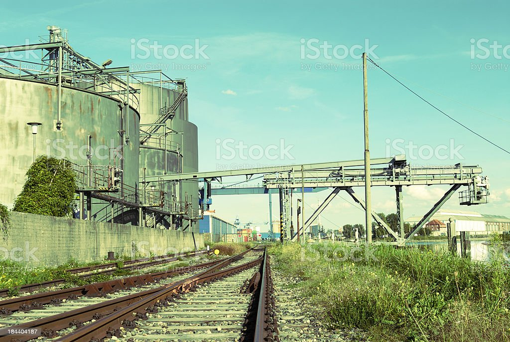 Industrial District royalty-free stock photo