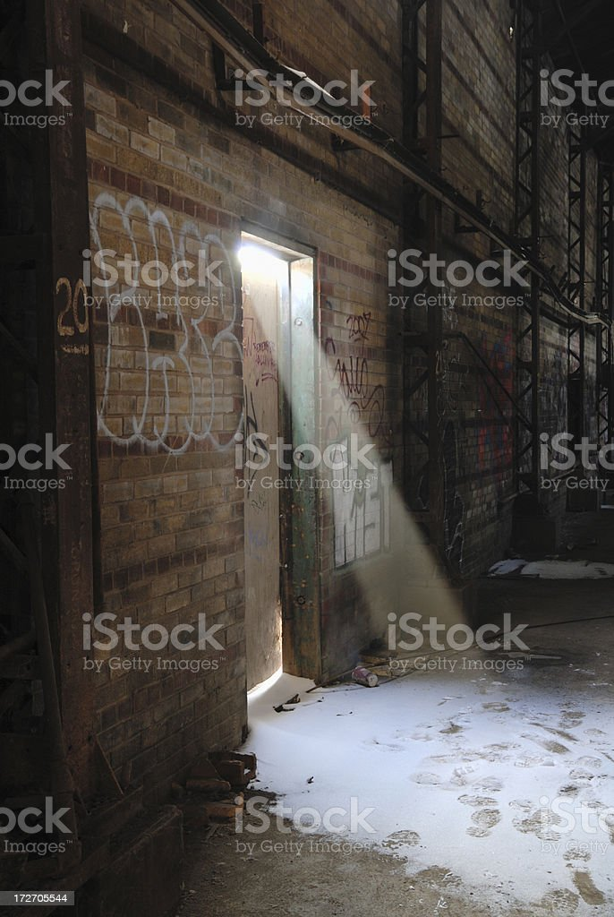 Industrial doorway royalty-free stock photo