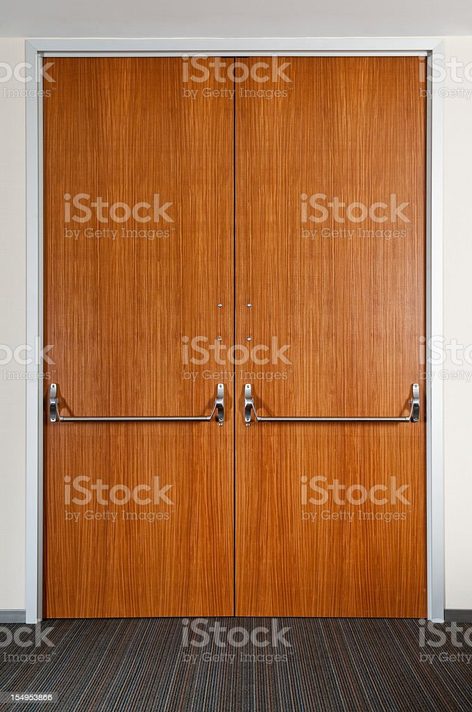 Industrial Double Door stock photo