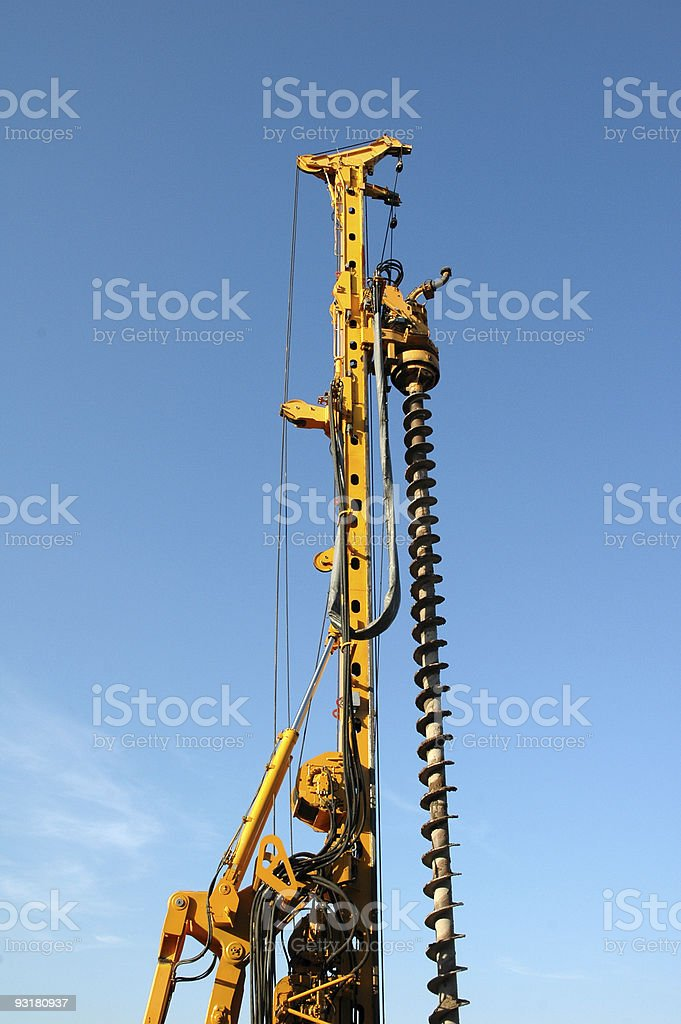 industrial drill royalty-free stock photo