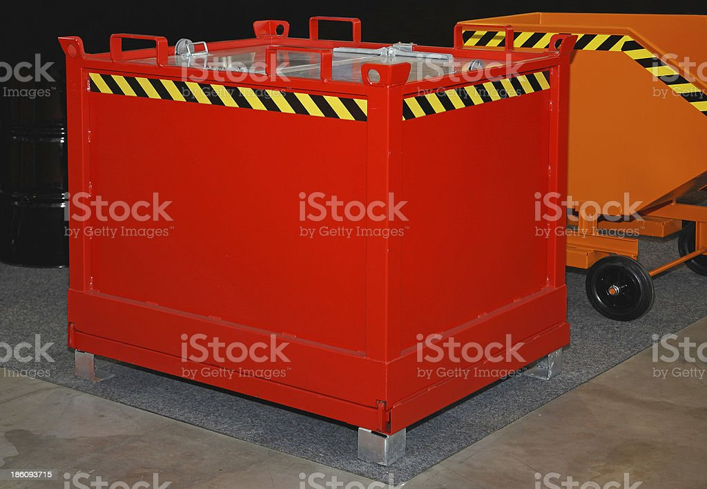 Industrial dumpster royalty-free stock photo